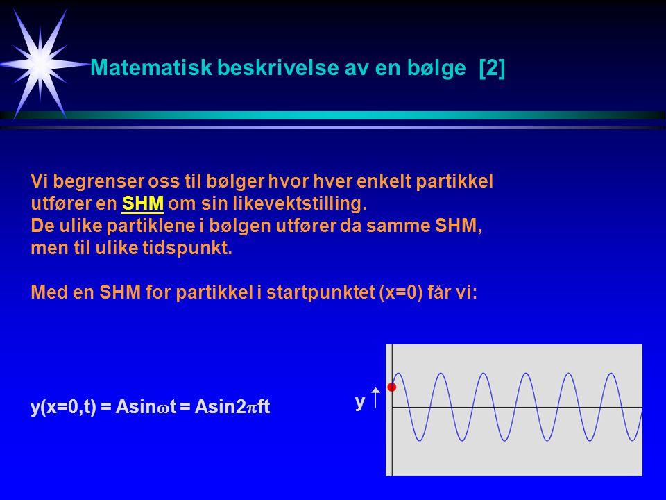 Matematisk beskrivelse av en bølge [2]